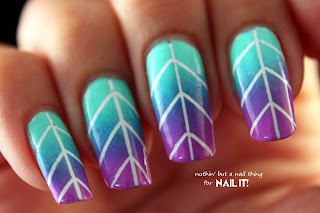 Striping tape gradient tutorial for Nail It magazine