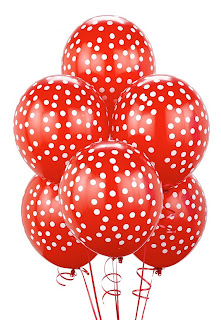 Red with White Dots Balloons