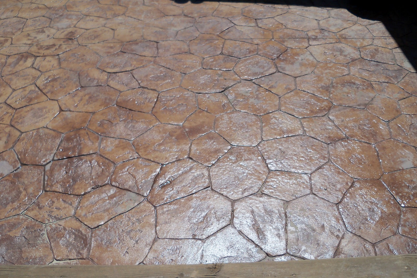 Stamped Concrete Over Pavers