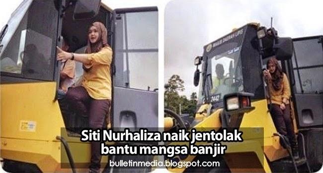 Penyanyi tersohor negara Siti Nurhaliza naik jentolak bantu mangsa banjir