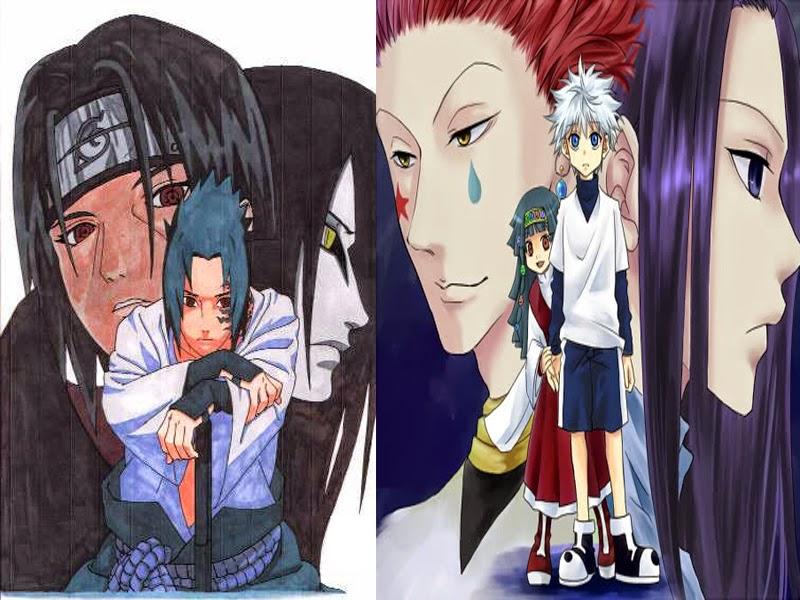 Kilua-Illumi-Hisoka vs Sasuke-Itachi-Orochimaru