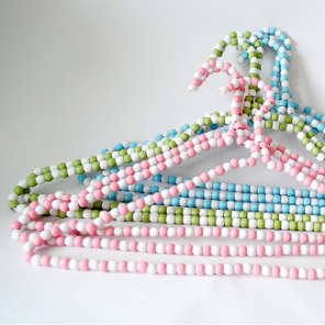 Hand beaded hangers by Torie Jayne