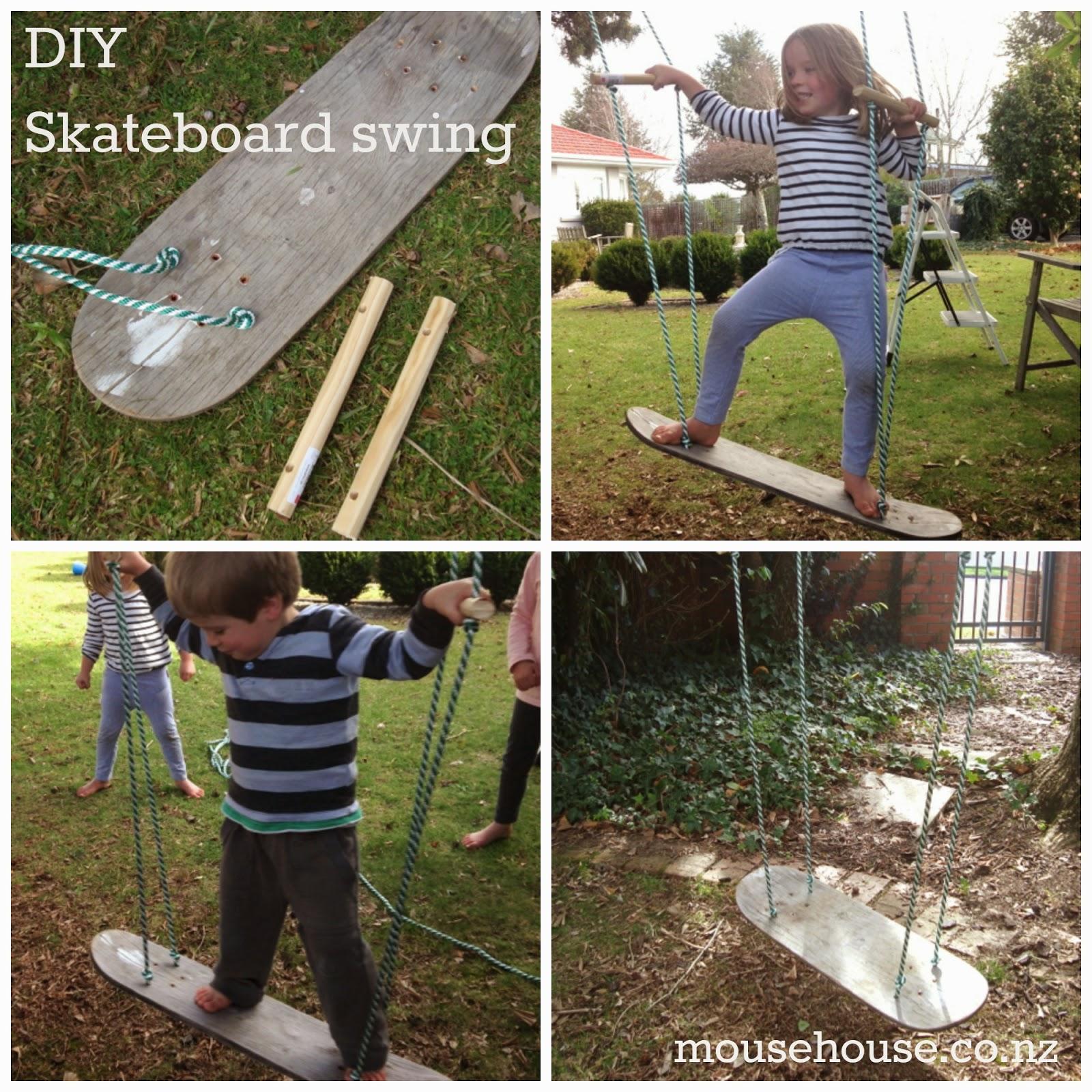 Mousehouse diy skateboard swing for Diy kids swing