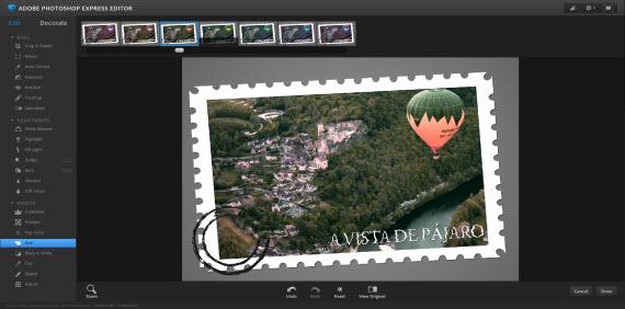 Retoca imágenes con el editor online Photoshop Express