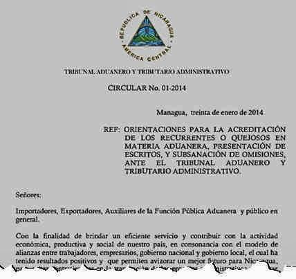 TATA: Circular 1-2014