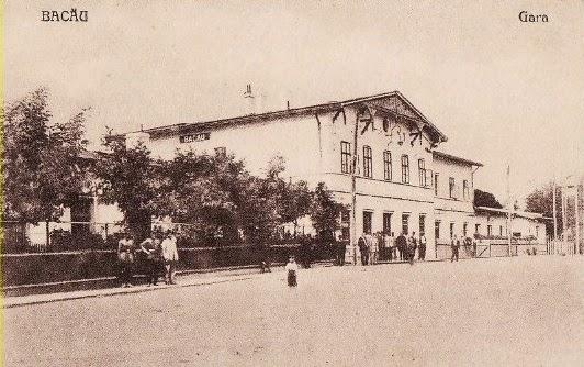 Vechea cladire a garii din Bacaul de altadata