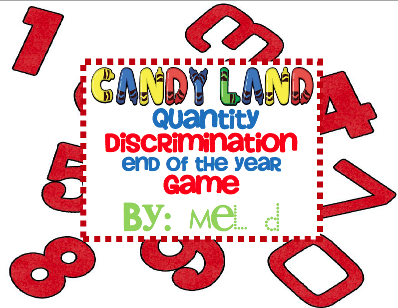 http://www.teacherspayteachers.com/Product/Candy-Land-Quantity-Discrimination-EOY-Game-239398