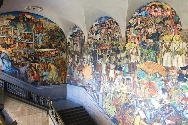 mural inside palacio nacional mexico city
