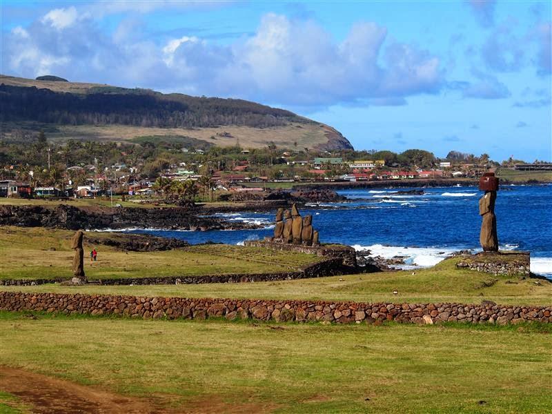 Hanga Roa desde Tahai - Isla de Pascua