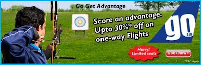 GoAir Offer: Get  30% Off on Base Fare of Flight Tickets (Booking Valid till 29th Sep'13)