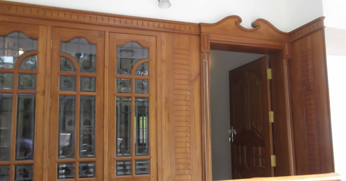 kerala style Carpenter works and designs front entrance  : frontdoorwithwindow from woodinteriordesigns.blogspot.com size 1200 x 630 jpeg 98kB