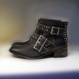 Zadig & Voltaire leather studded ankle boots