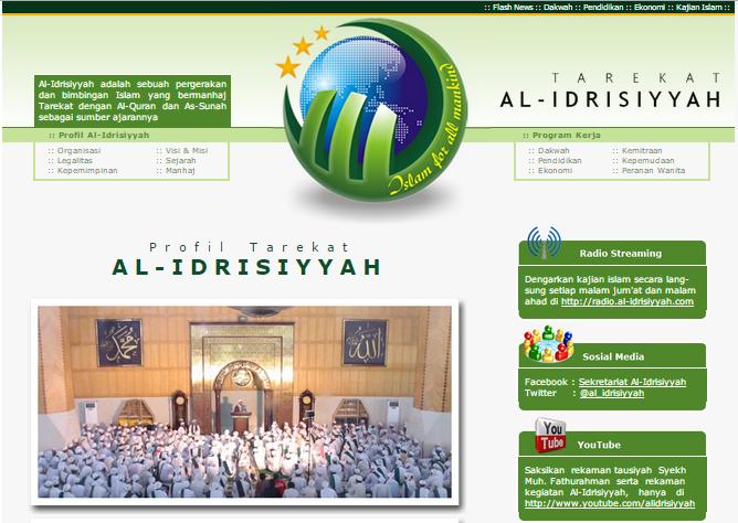 Web Site Al-Idrisiyyah
