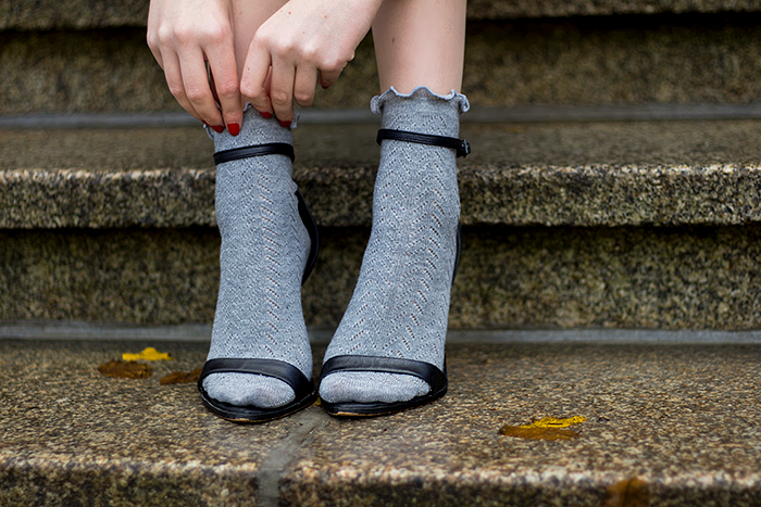 Socks in sandals trend fall autumn 2014 fashion blogger
