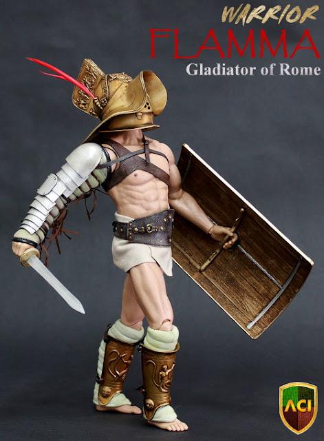 1/6 ACI Warriors Gladiator of Rome FLAMMA Helmet