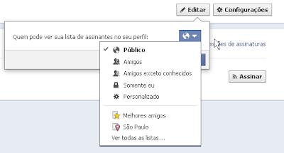 permitir assinatura facebook