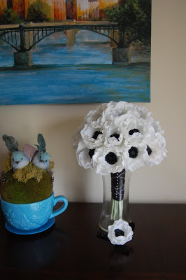 anemone wedding bouquet paper