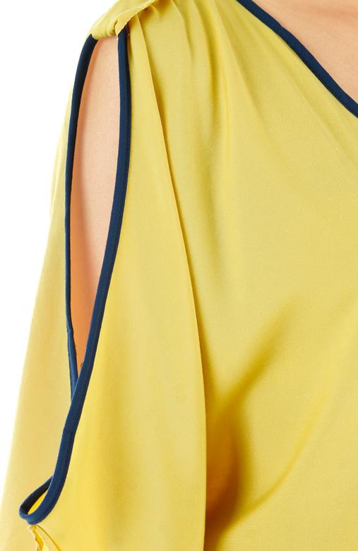 Flyaway Slouchy Top with Cut Sleeves