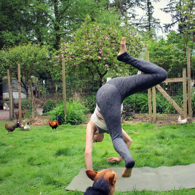 Handstand yoga practice
