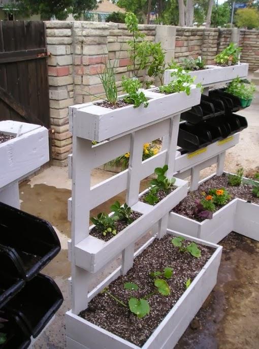 Jardin vertical reciclado de palets