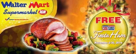 BPI Credit Card's: Free Purefoods Fiesta Ham at Walter Mart Supermarket