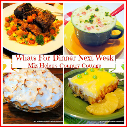 Whats For Dinner Next Week * Week Of 4-23-17