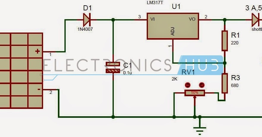 solar battery charger circuit projects4u