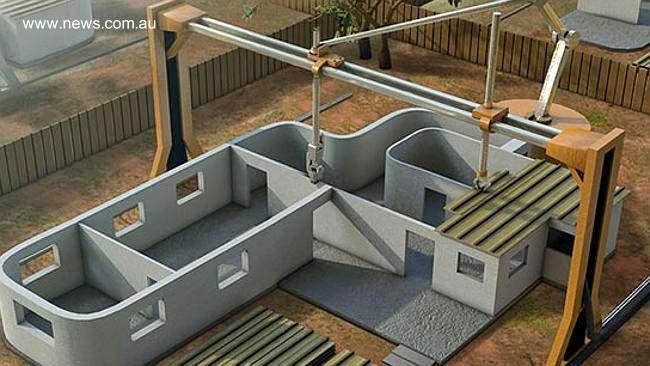 Construcción de una casa con impresora 3D imagen de renderizado del proyecto