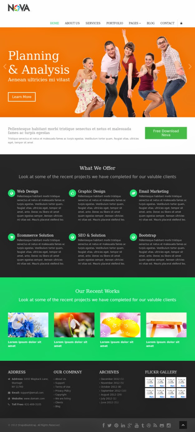50 Free Bootstrap Framework HTML5 Templates
