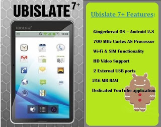 Datawind Ubislate 7+: Specs & Photos of Budget Android Slate coming to UK