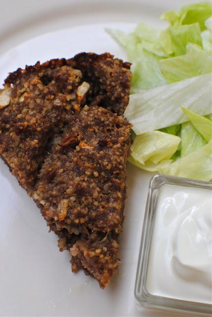 kibbeh, recept, köttfärspaj, paj, middag