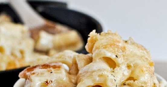 Cooking Pinterest: Four Cheese Baked Skillet Rigatoni