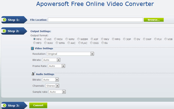 apowersoft Features and Supported Video Output Format