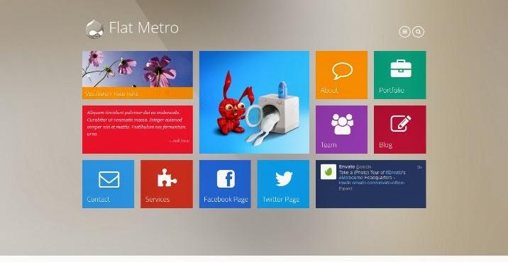 Flat Metro - Responsive Drupal Theme