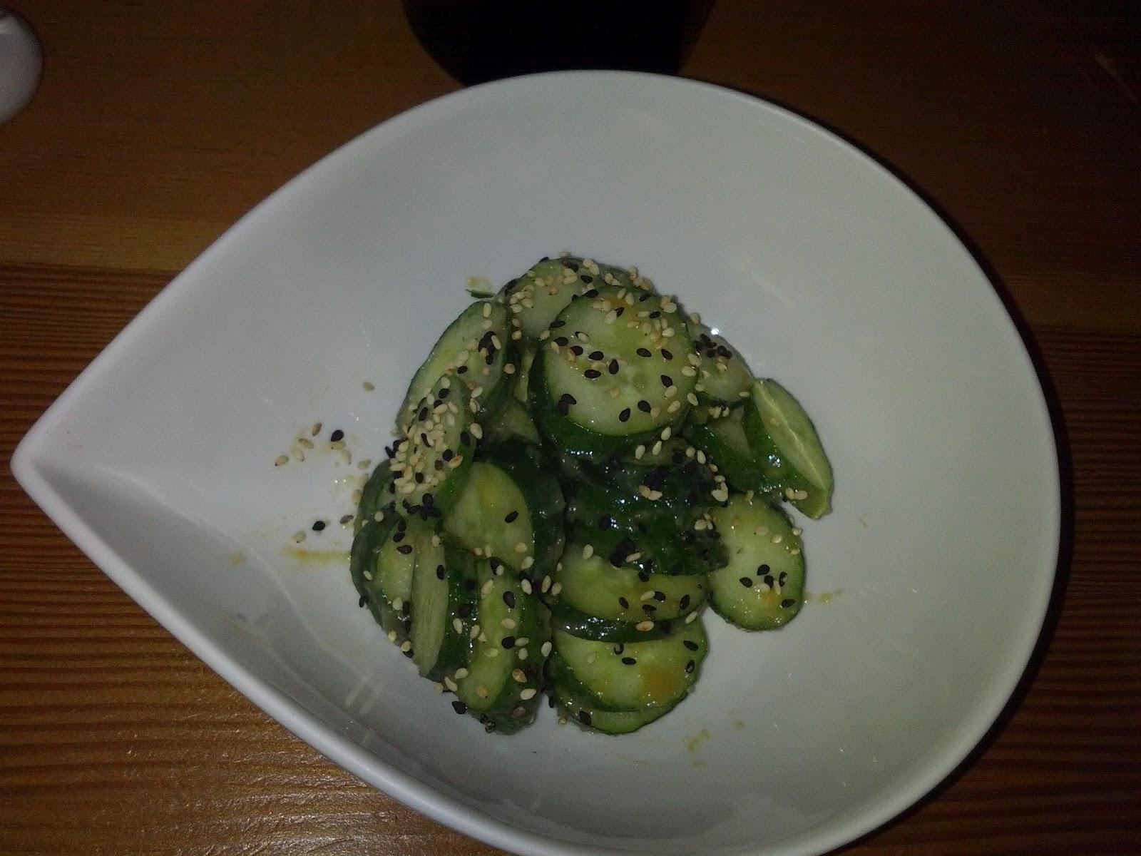 Cucumber Salad: Japanese Cucumber, Miso-Tahini Dressing, Sesame Seeds ...