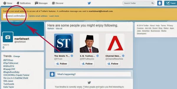 cara membuat twitter terbaru