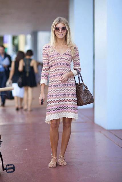 Look tons pastel tendencia primavera verão 2015 vestido padrão rosa