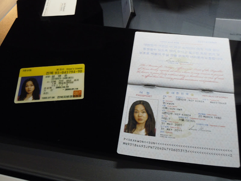 Sun's ID and passport LOST props