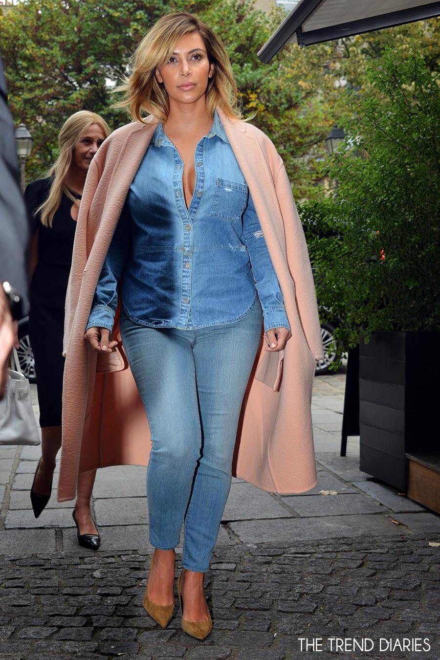 Kim Kardashian out in Paris, France - October 1, 2013 ... Kim Kardashian 2013 October