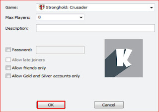 Cara mudah main game Stronghold Crusader dan game offline lainnya secara online dengan teman