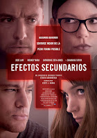 Cartel de la película 'Efectos secundarios', de Steven Soderbergh, con Channing Tatum, Rooney Mara, Jude Law y Catherine Zeta-Jones. Making Of