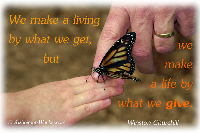 We make a living by what we get, but we make a life by what we give. (Winston Churchill)