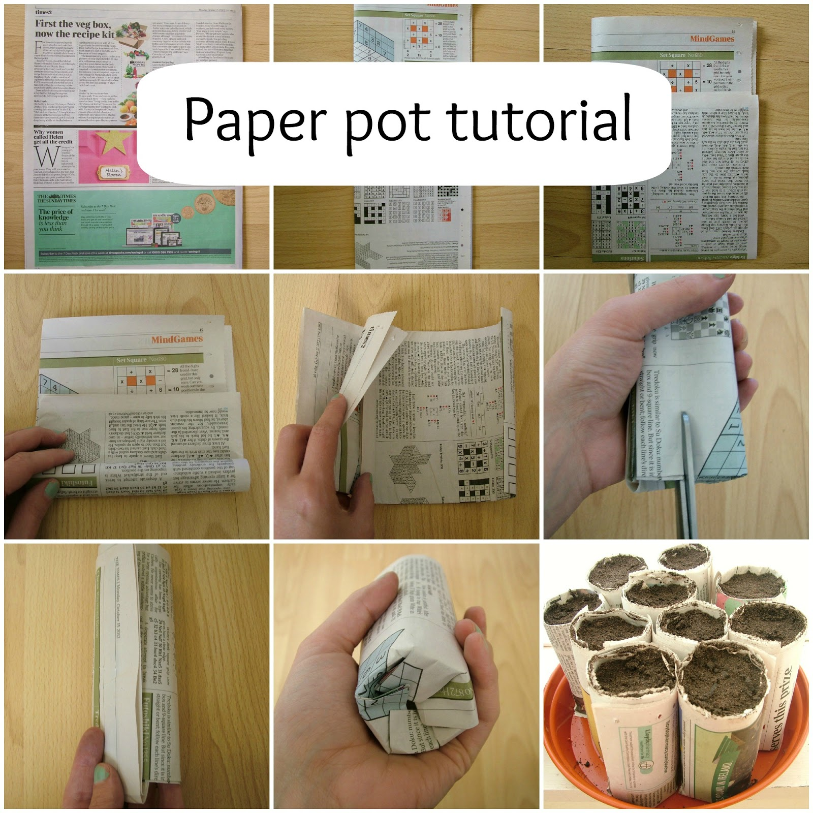 the dress tree dirty fingernails and a paper pot tutorial - dirty fingernails and a paper pot tutorial