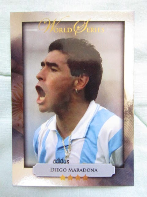 FIFA Football Soccer World Cup Brazil 2014 Argentina 1986 Hand of God goal  Diego Maradona Futera World Series Heroes