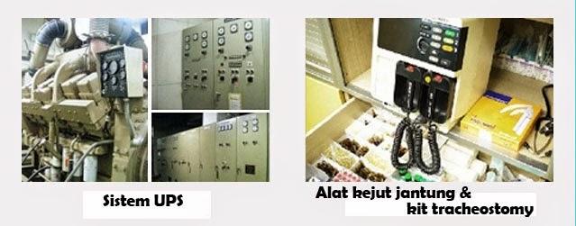 Sistem UPS dan alat kejut jantung serta kit tracheostomy di Wonjin