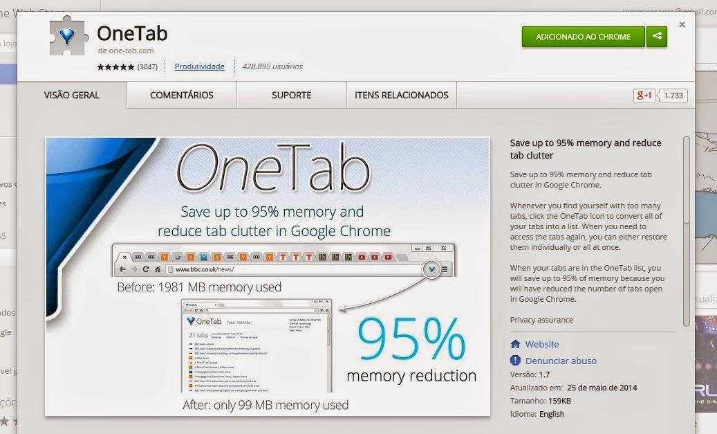 Liberar memória - Google Chrome Ubuntu