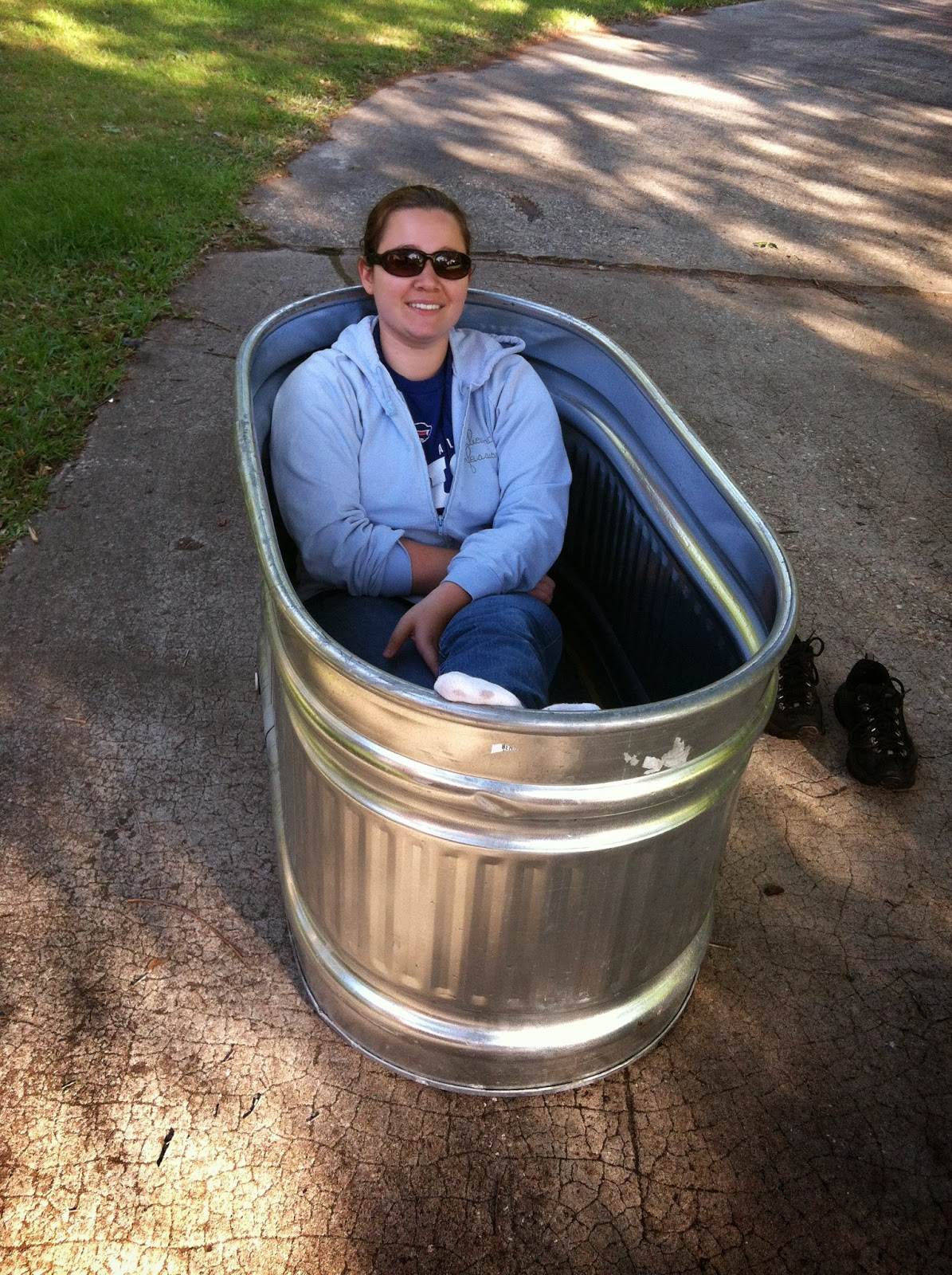 Metal Trough Bathtub : That same day we went toour local feed depot and purchased our new 48 ...