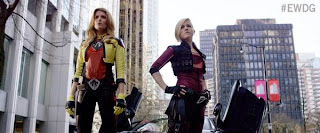 Grace Helbig as Electra Woman and Hannah Hart as Dyna Girl
