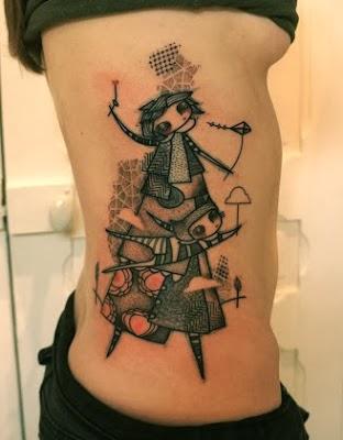 Amazing Avant Garde Tattoo by NooN