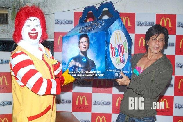Shahrukh Khan at Ra.One Happy Meal launch at McDonald's